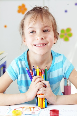 Child painting in the kindergarten Stock Photo - 13321564