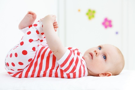 baby bedroom: Picture of a beautiful baby at home