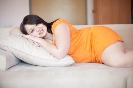 plus size: Casual portrait of young beautiful woman