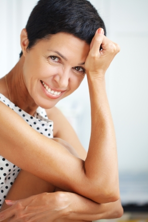 beautiful middle aged woman: Portrait of beautiful middle aged woman