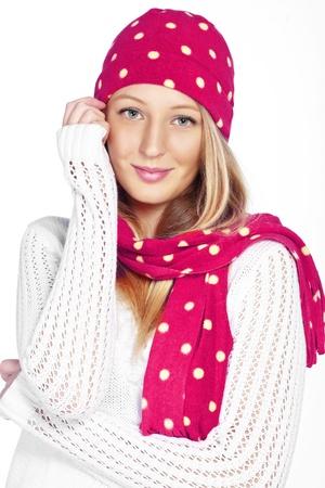 Portrait of the beautiful teenage girl wearing warm winter clothing Stock Photo - 16717690