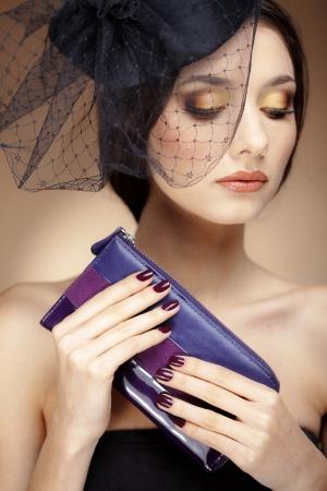Portrait de beau visage avec un maquillage parfait