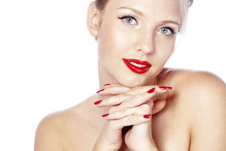 Beautiful face with glamour bright makeup Stock Photo - 17381112
