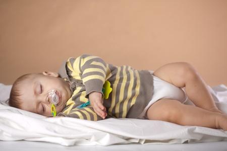 Studio portrait of a baby sleeping photo