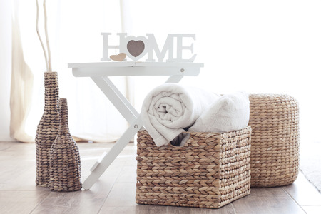 pillows: Details of modern cozy interior