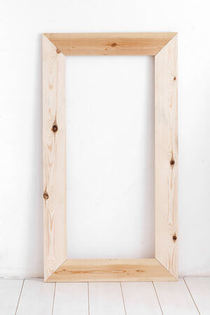 wooden frame: Vintage interior decor with wooden frame Stock Photo