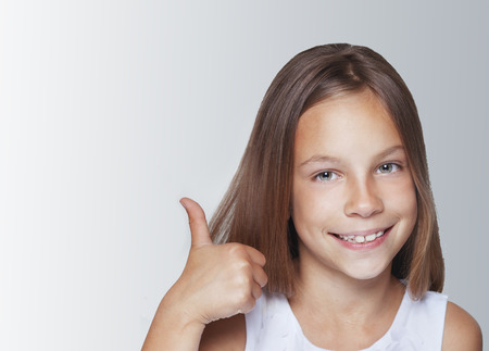 Portrait of 7 years old smiling kid girl Stock Photo - 29289655