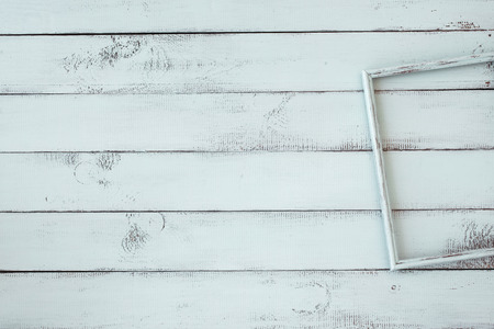 menta: Marco de fotos de madera en la menta fondo shabby chic Foto de archivo