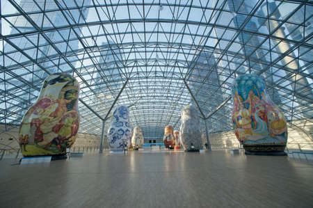 Exhibition of Russian nested dolls in Moscow Afi Mall