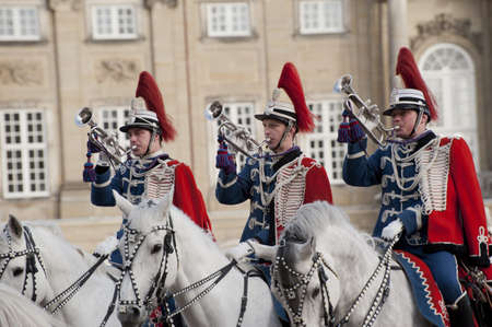 danish: The Royal Danish Guard patrols the royal residence Amalienborg Palace and serves the royal Danish family.  Amalienborg is also known for the Danish Royal Guard, who patrol the palace grounds. The Danish Royal Guard march from Rosenborg Castle at 11.30am d