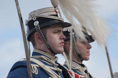 The Royal Danish Guard patrols the royal residence Amalienborg Palace and serves the royal Danish family.  Amalienborg is also known for the Danish Royal Guard, who patrol the palace grounds. The Danish Royal Guard march from Rosenborg Castle at 11.30am d