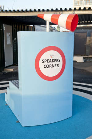 Speakers corner in Copenhagen, Denmark