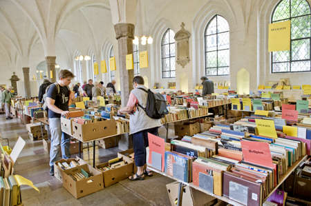 Old books market in Copenhagen, Denmark