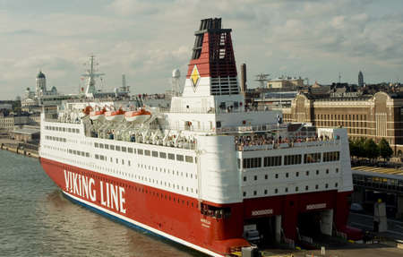 Viking Line ferry sails away from Helsinki port  taken on July 2011