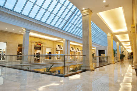 Interior of trading mall the Crocus the Hall in Moscow Editorial