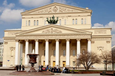 Bolshoi theater in Moscow after restoration, taken on April 2012