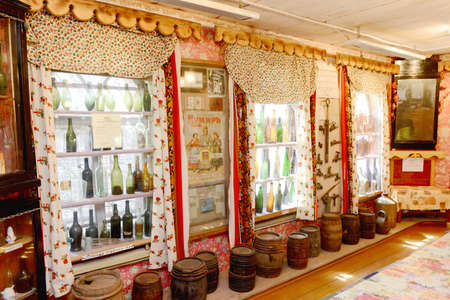 Interior of vodka Smirnoff museun in the Russian small sity Myshkin. Taken on July 2012. Editorial