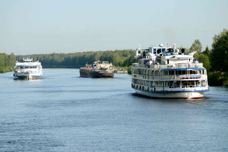Cruise ship on the Moscow canal. Taken on July 2012 Russia Editorial