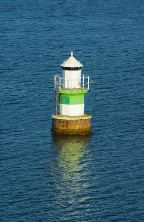Navigation beacon in the Baltic sea photo