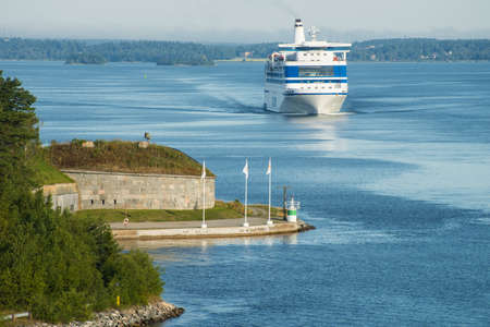 Cruise ship in the  Baltic sea near of Stockholm, Sweden. Taken on August 2012.