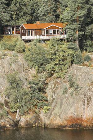 Summer cottage in Sweden. Taken on August 2012. Editorial