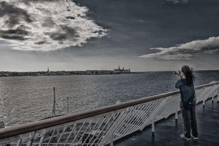 View on the Helsingor, Denmark from ferry board  Taken on August 2012  Stock Photo - 16818122