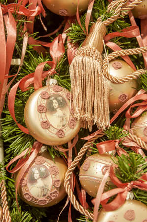 Christmas tree decoration with nice toys and balls
