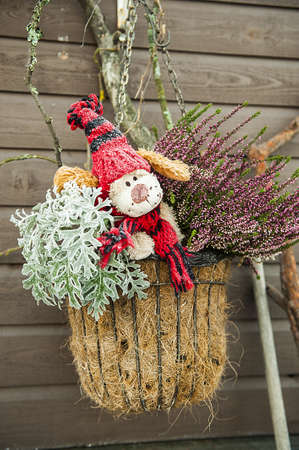 Decorated gnomes on the eve of Christmas Stock Photo
