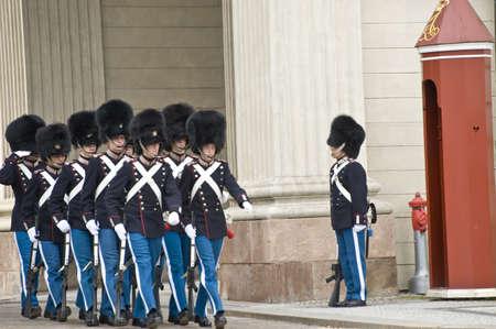 scandinavian peninsula: Copenhagen, Denmark -August 2011  Denmark Royal Guard