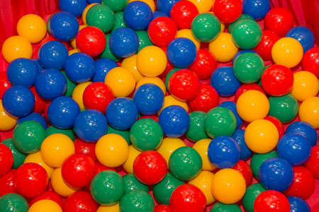 Part of Colors Ball Pit for children Stock Photo