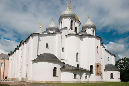 The St. Sophia is one of Russias oldest stone buildings. It was erected by Prince Vladimir, the eldest son of Yaroslav the Wise, and his mother Anna in 1045 %u2013 1050.  Stock Photo