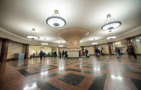 Interior of a metro station in Moscow, Russia Editoriali