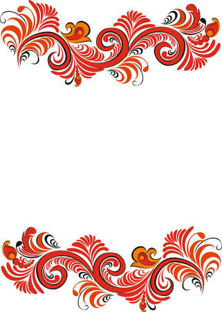 Decorativ element, ornament, swirl Illustration