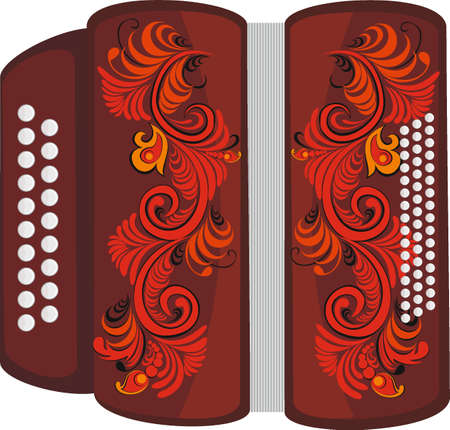 Accordion with pattern Vector