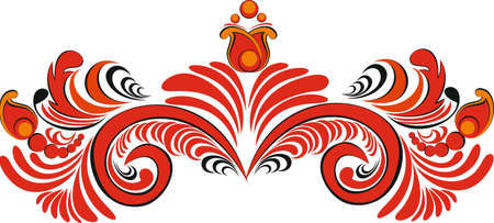 Decorativ element, ornament, swirl Illustration