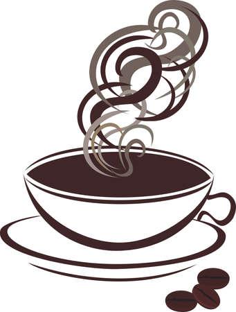 demitasse: Tazza di caff? e chicchi di caff?