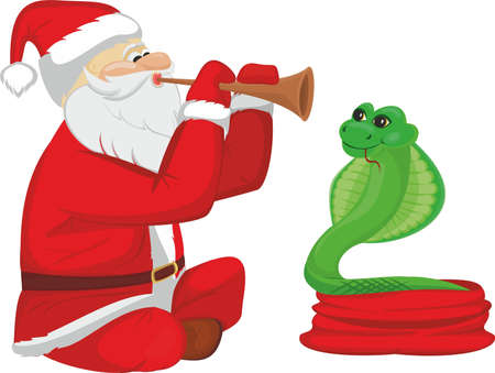 Fakir Santa Claus and snake Stock Vector - 21316881