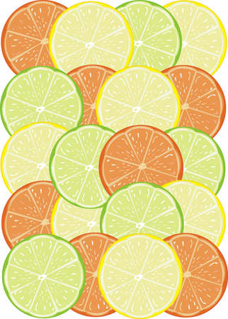 Beautiful bright background from tropical fruit Vector
