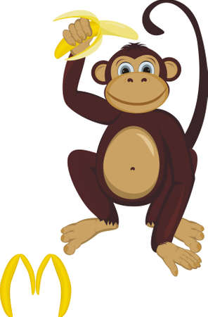 Monkey with letter M Vector