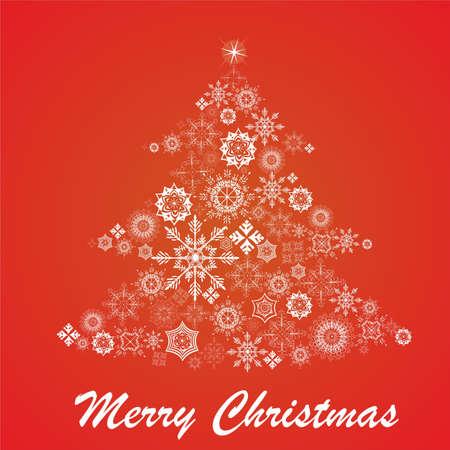 Christmas fur-tree from snowflakes