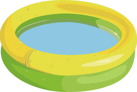 Kid inflatable pool isolated on white background Ilustrace