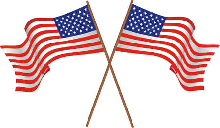 us grunge flag: Illustration of two flags of the USA
