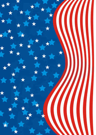 American abstract background flag Illustration