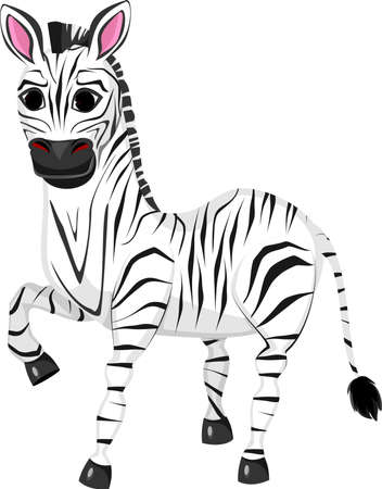 traced: Illustration of funny zebra cartoon
