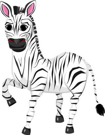 Illustration of funny zebra cartoon
