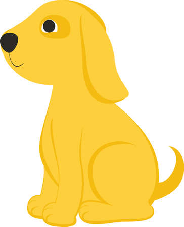 Cartoon yelow dog