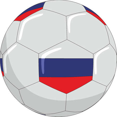 Football with the symbols of the Russian flag. Ilustrace