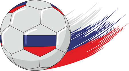 Ball and russia flag colors Ilustrace