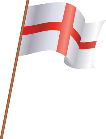 The flag of England isolated on white background