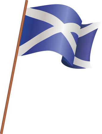 The flag of Scotland Ilustrace